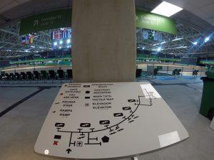 Parque Olímpico - Mapa tátil da Arena Parque Olímpico